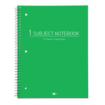 1 SUB 70 SHEET COLLEGE RULED POLY ASSORTED FASHION COLOR NOTEBOOK