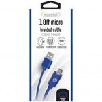 IESSENTIALS 10FT BRAIDED MICRO TO USB CABLE