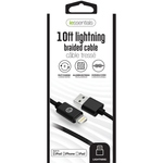 IESSENTIALS 10FT BRAIDED 8PIN LIGHTNING TO USB CABLE