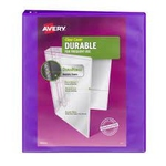 "BINDER 1"" DURABLE VIEW WITH ROUND RINGS ASSORTED"