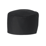 BLACK CHEF SKULL CAP ONE SIZE FITS ALL