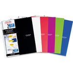 MEAD 5 STAR NOTEBOOK 2 SUBJECT, POLY COVER, 120 SHEET, COLLEGE RULED, ASSORTED COLORS