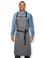 HOSPITALITY CHEF APRON BIB HEATHER GRAY COLOR CC00249 FOR RESTAURANT BAKERY STAFF
