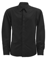 HOSPITALITY CHEF SHIRT LADIES BLACK BUTTON DOWN