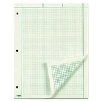 """TOPS Engineering Computation Pad, 8-1/2"""" x 11"""", Glue Top, Graph Rule (Grid-to-Edge 5 x 5), Green Tint Paper"""