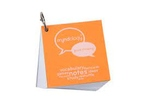 FLASH CARDS MYNDOLOGY RING BOUND SMALL WHITE 1.125X2.75 70 CARDS/5 DIVIDERS