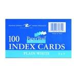 INDEX CARD 3X5 WHITE PLAIN 100CT