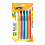 BIC BRITE LINER RETRACTABLE HIGHLIGHTERS 5PK