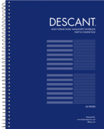 DESCANT MULTI-FORMAT MUSIC COLLEGE AND STAVE NOTEBOOK