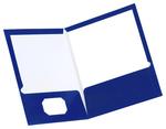 FOLDER GLOSSY TWIN POCKET BLUE