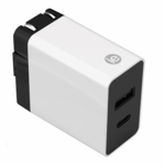 IESSENTIALS 3.4 AMP WALL CHARGER W/ USB C & A SLOTS