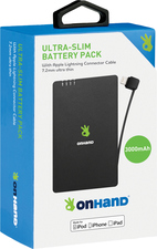 MEMORY ON HAND ULTRA-SLIM POWER BANK W/ BUILT IN 8-PIN CABLE