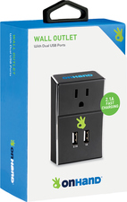 MEMORY ON HAND WALL CHARGER W/ 2 USB AND 1 AC/DC