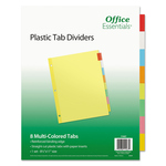 OFFICE ESSENTIALS COLOR 8 TAB DIVIDERS