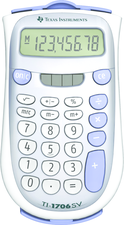 TI-1706 SUPERVIEW BASIC CALCULATOR SILVER