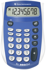 TI-503 SUPERVIEW CALCULATOR BLUE