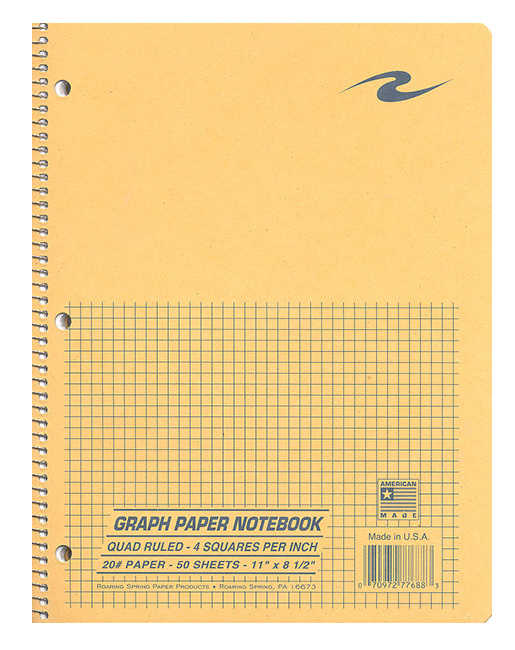 1 subject 4x4 quad paper notebook columbus state bookstore