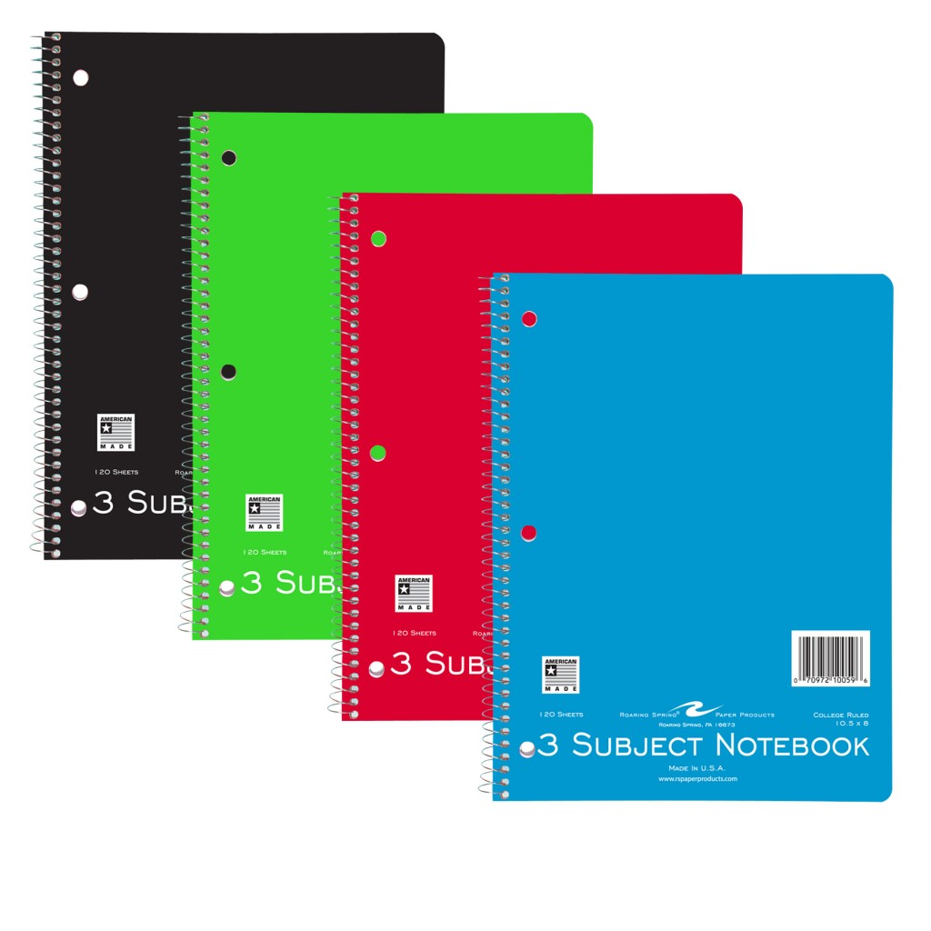 3 SUBJECT NOTEBOOK 120 SHEET COLLEGE RULED | Columbus State